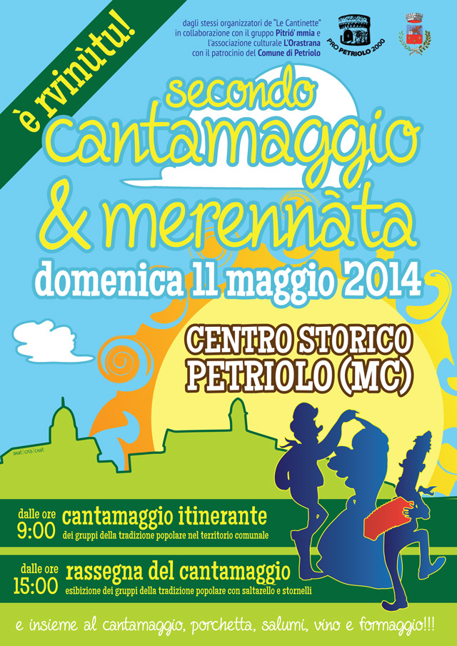 Secondo Cantamaggio e merennàta a Petriolo MC, domenica 11 maggio 2014