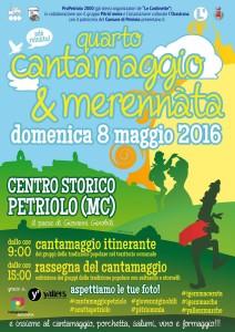 Quarto Cantamaggio di Petriolo (Macerata) – domenica 8 maggio 2016