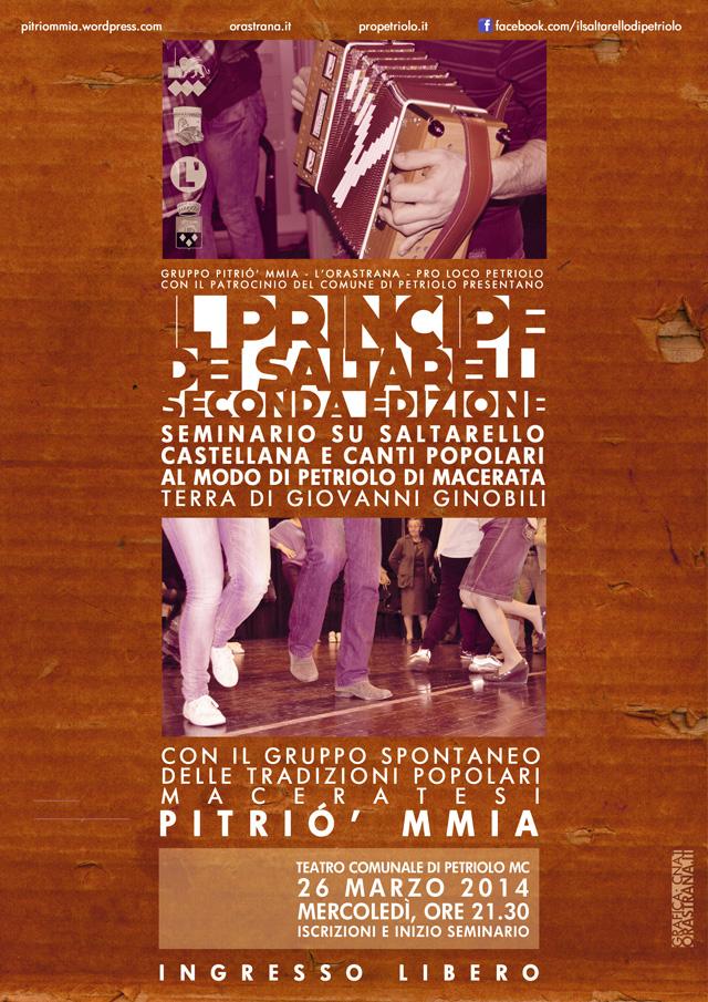 Il Principe dei Saltarelli 2.0 – Seminario sul saltarello di Petriolo con il gruppo Pitrió' mmia