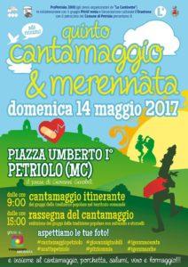 Quinto Cantamaggio e merennàta a Petriolo MC, domenica 14 maggio 2017