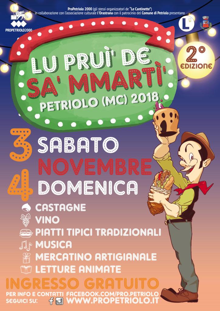 Lu prui' de Sa' Mmartì' - II edizione - Petriolo (MC), 3 e 4 novembre 2018
